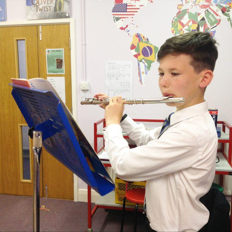 School Flute Student